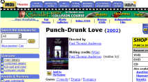 Internet Movie DataBase (Punch-Drunk Love page)
